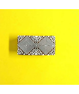Indian design pattern geomatrical wooden stamps textile clay stamp texti... - $13.01