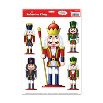 "Beistle Nutcracker Clings 12"" x 17"" Sheet (5 Ct)- Pack of 12 - $28.47"
