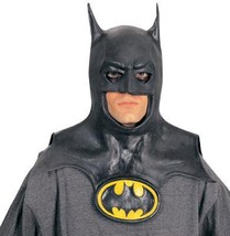 BATMAN - Latex Mask  WITH LOGO ON YELLOW MEDALLION Adult Size - $45.00