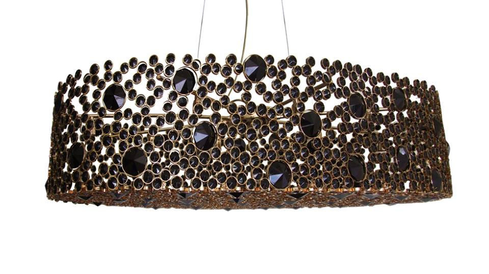 "Primary image for AM9844: Koket ""Eternity III"" Pendant Chandelier  (20""-36"" W x 10""H) $1,290+"
