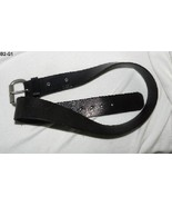 Relic Size 36 Full Grain Rawhide Black/Dark Brown Leather Belt - $15.99