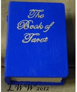 Blue Faux Book Wooden Tarot Box The Book of Tarot Wicca Pagan Handmade - $10.99