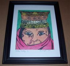 "2008 Hand signed & numbered 1/1 Jim Provenzale ""Pretty Ghetty"" Woodcut A... - $386.99"