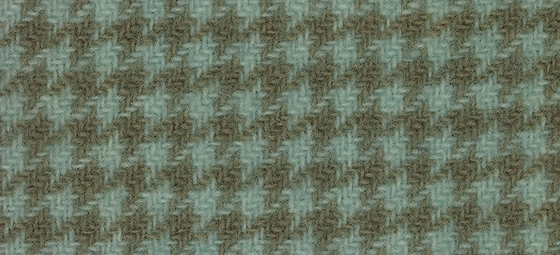Primary image for Seafoam Houndstooth 16x13 (1166) 100% wool hand dyed Weeks Dye Works