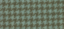 Seafoam Houndstooth 16x13 (1166) 100% wool hand dyed Weeks Dye Works  - $12.60