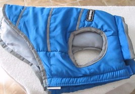 American Dog Coat Blue Reflective Small Velcro Closure! Dog Cat even Goa... - $9.70