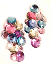 STUNNING Statement Sparkling Jaw Dropping Massive Huge Colorful Plastic ... - $95.00