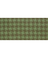 Dried Sage Houndstooth 16x26 (1191) 100% wool h... - $25.20