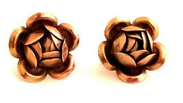 ROSE Flower Designer 3D Gorgeous Floral Figural Antique Gold Vermeil Scr... - $40.00