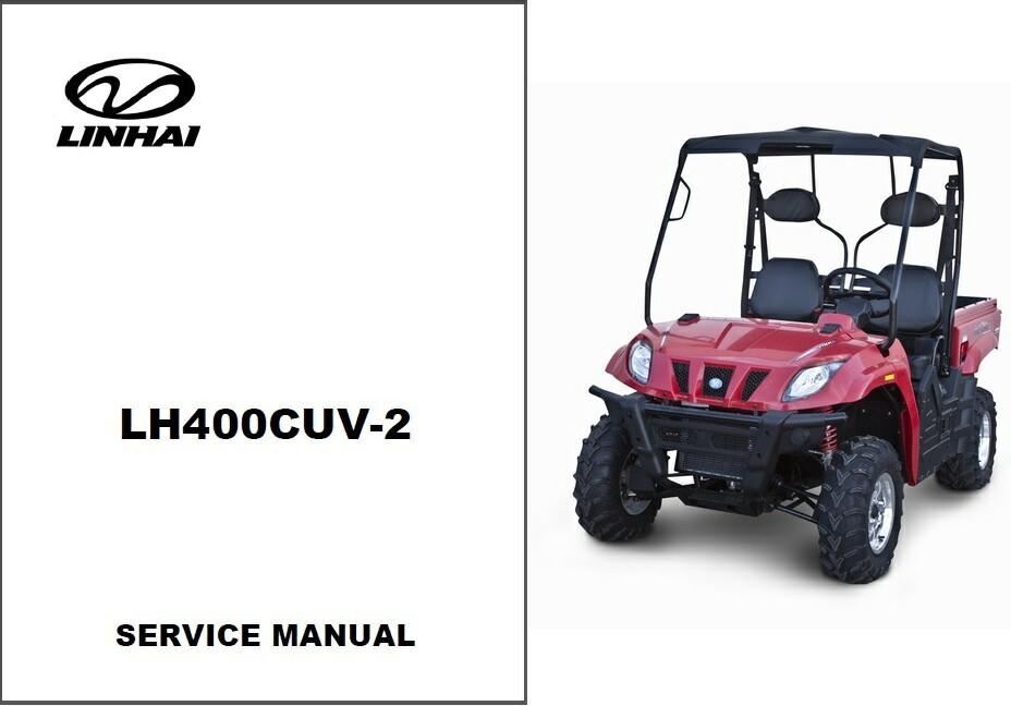 Linhai LH400CUV-2 Bighorn 400 CUV 4X4 Repair Service Workshop Manual CD