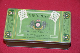 "The ""Greys"" Silk Cut Virginia Cigarettes Tin  - $40.00"