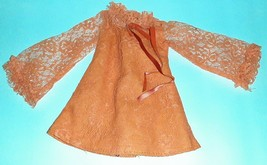 Crissy Doll Orange Lace Dress Velvet Ribbon 1970s Vintage Ideal Crissy - $9.90