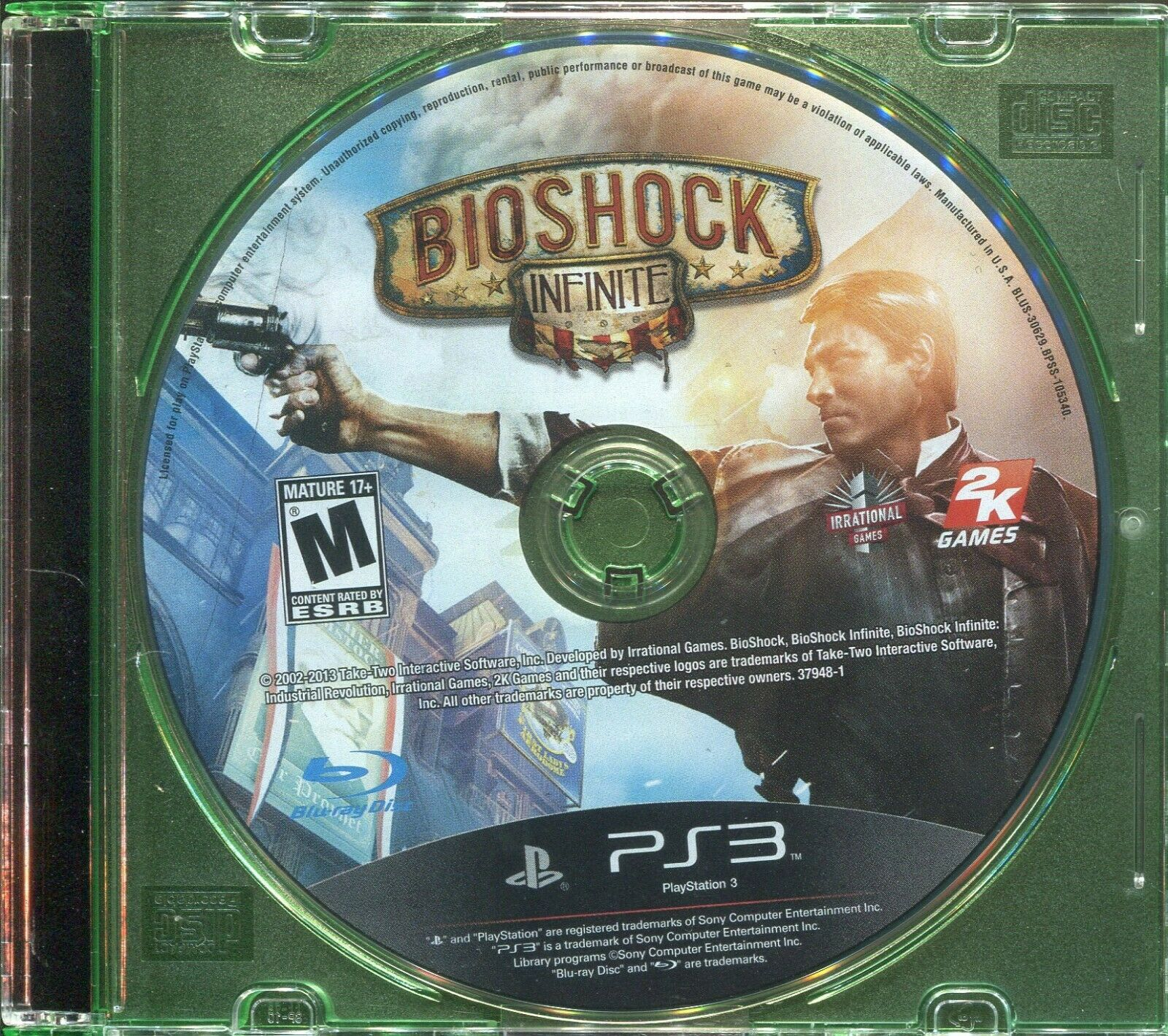 Primary image for BioShock Infinite (Sony PlayStation 3, 2013) PS3 - Disk Only!