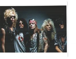 Guns N' Roses B Axl Rose Vintage 8X10 Color Music Memorabilia Photo - $6.99