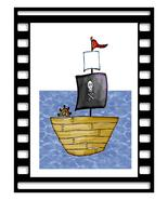 Frame Pirate Ship04-Digital Download-ClipArt-Ar... - $3.00