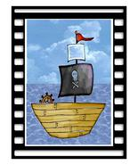 Frame Pirate Ship05-Digital Download-ClipArt-ArtClip-Digital Art       - $4.00