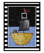 Frame Pirate Ship06-Digital Download-ClipArt-ArtClip-Digital Art       - $4.00