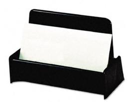 "NEW Universal Business Card Holder, Capacity 50 Cards 4"" x 2.5"" Black Pa... - $27.45"