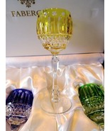 Faberge Xenia Yellow Goblet  Glass  new without the box - $275.00