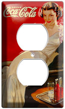 Retro Sexy Lady Vintage Coca Cola Power Outlet Wall Cover Plate Room Art Decor - $9.99