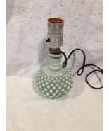 Light Green Opalescent Lamp Hobnail Fenton? - $27.39
