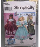 Vintage 1992 Simplicity 8314 Daisy Kingdom Child Girl's dress Size AA 7 10 - $12.00