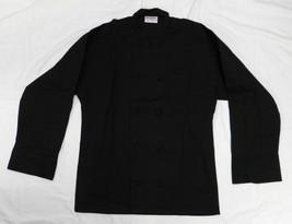 Chef Jacket Black 2XL Uncommon Threads 403 Cloth Knot Button Uniform Coat New - $29.37
