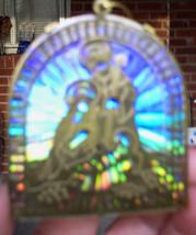 Vintage Avon Reflective Nativity Brass Sparkling Mylar Ornament 3DVintag... - $8.55