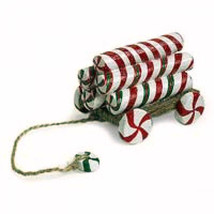 """Boyds Pull Toy -""""Candy Christmas"""" Tug Along  -#654257 -2006 - Retired - $19.99"""