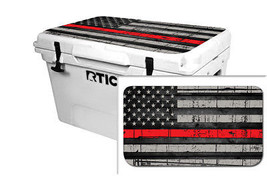 "RTIC Wrap ""Fits Old Mold"" 65qt Cooler 24mil Lid Kit USA Red Line Flag - $36.95"