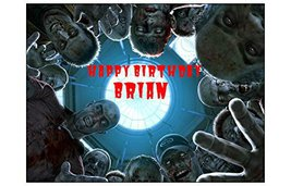 Zombie Halloween Edible Image Cake Topper Decoration Party Personalized Pumpk... - $7.13