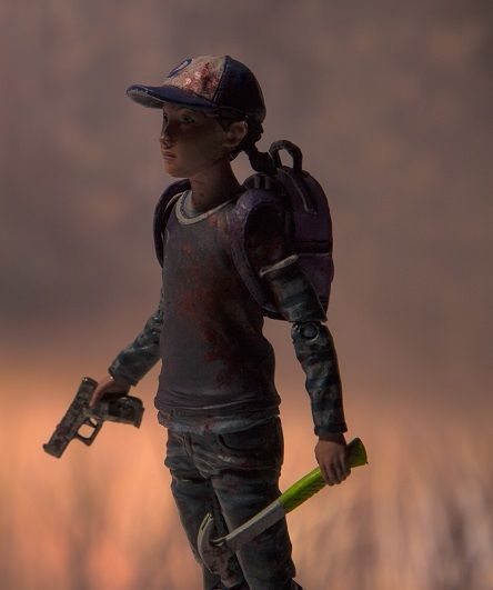 Telltale The Walking Dead Clementine Clem Action Toy Figure Mcfarlane - BLOODY
