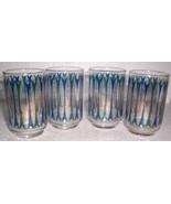 (4) VINTAGE LIBBEY'S BLUE & GOLD SPARKLE COLOR ... - $69.76