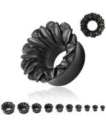 Organic BLACK Wood Lotus Ear Plugs Tunnels Gauges 2g 0g 00g 1/2 9/16 5/8... - $15.99