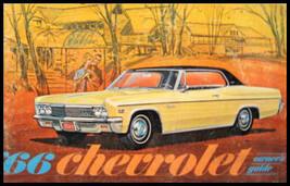 1966 Chevrolet Owner's Manual, Original, Full size cars - $17.62