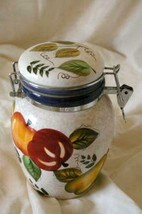 "Oneida Vintage Fruit Coffee Canister 6"" Tall - $9.69"