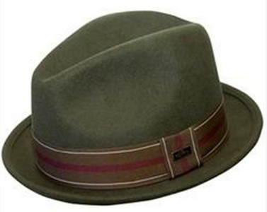 """NEW Conner Hats Men's CRUSHABLE WOOL Fedora Trilby Hat Olive 1.5"""" Brim NWT"""