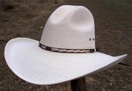 "NEW Summit Hats QUALITY SAHUAYO Palm GUS Straw Western Cowboy Hat 4"" brim - £25.34 GBP+"