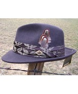 NEW QUALITY STACY ADAMS CRUSHABLE Wool Felt Snap Brim Satin Lined Fedora... - $49.95