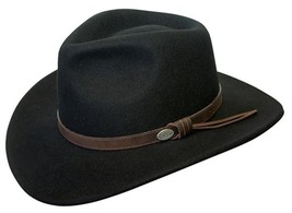 NEW Conner Men's Aussie Wool Crusher Water Proof Cowboy Hat Black C1001 - €56,61 EUR