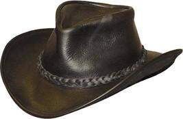 NEW USA MADE Henschel Hats Black U-SHAPE-IT Leather Western Cowboy + siz... - $91.95+
