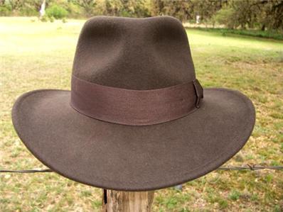 c0526326b1d NEW Indiana Jones Harrison Ford MOVIE Fedora CRUSHABLE RAIN PROOF Wool Hat  NWT