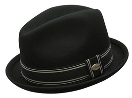 NEW Conner Hats Men's 1.5 Brim CRUSHABLE 100% WOOL Fedora Trilby Hat Bla... - €42,35 EUR