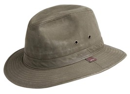 NEW Conner Indy Jones Mens Water Resistant CRUSHABLE Cotton Hat Loden Y1085 - €41,47 EUR