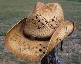 NEW Summit Hats BEACH River Party Raffia Straw Cowboy Western Hat Chin S... - $752,07 MXN