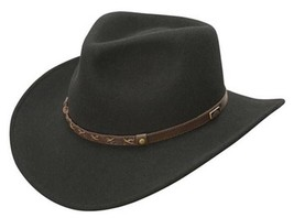 "NEW Conner CRUSHABLE Water Proof WOOL OUTBACK Cowboy Hat Black 3"" Brim C... - €56,61 EUR"