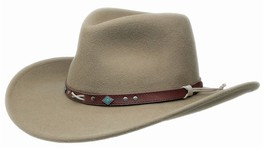 NEW Black Creek BC2007 Crushable Wool Western Cowboy Hat NWT MADE in the... - €64,58 EUR