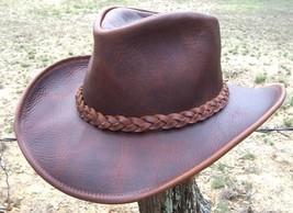 NEW USA MADE Henschel Hats U-SHAPE-IT Leather Western Cowboy Hat Brown +... - $95.95+