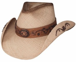 NEW Montecarlo Bullhide MORE THAN A MEMORY Panama Straw Western Cowboy H... - $58.36