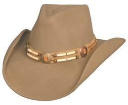 NEW Montecarlo Bullhide SHAWNEE Wool Western Cowboy Hat NWT Classic Camel - ₨3,591.09 INR